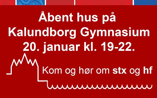 Åbent hus for kommende elever 20/1