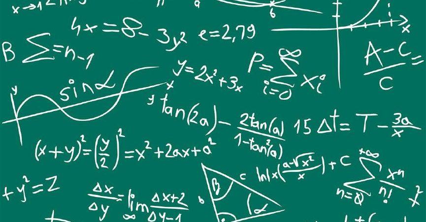 tavle med matematiske formler