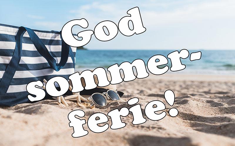 Dekoration: god sommerferie