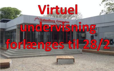 Virtuel undervisning forlænges til 28/2